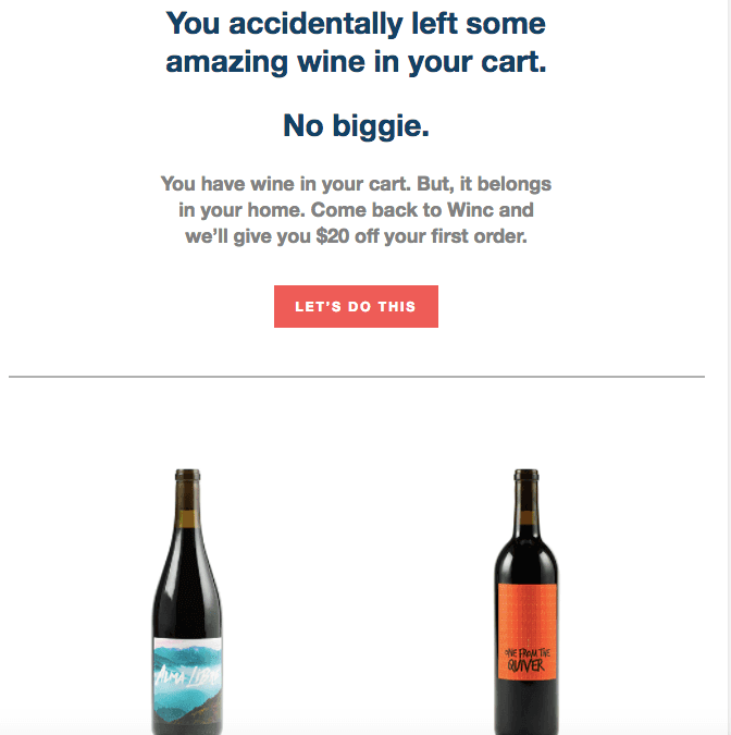 winc email marketing example