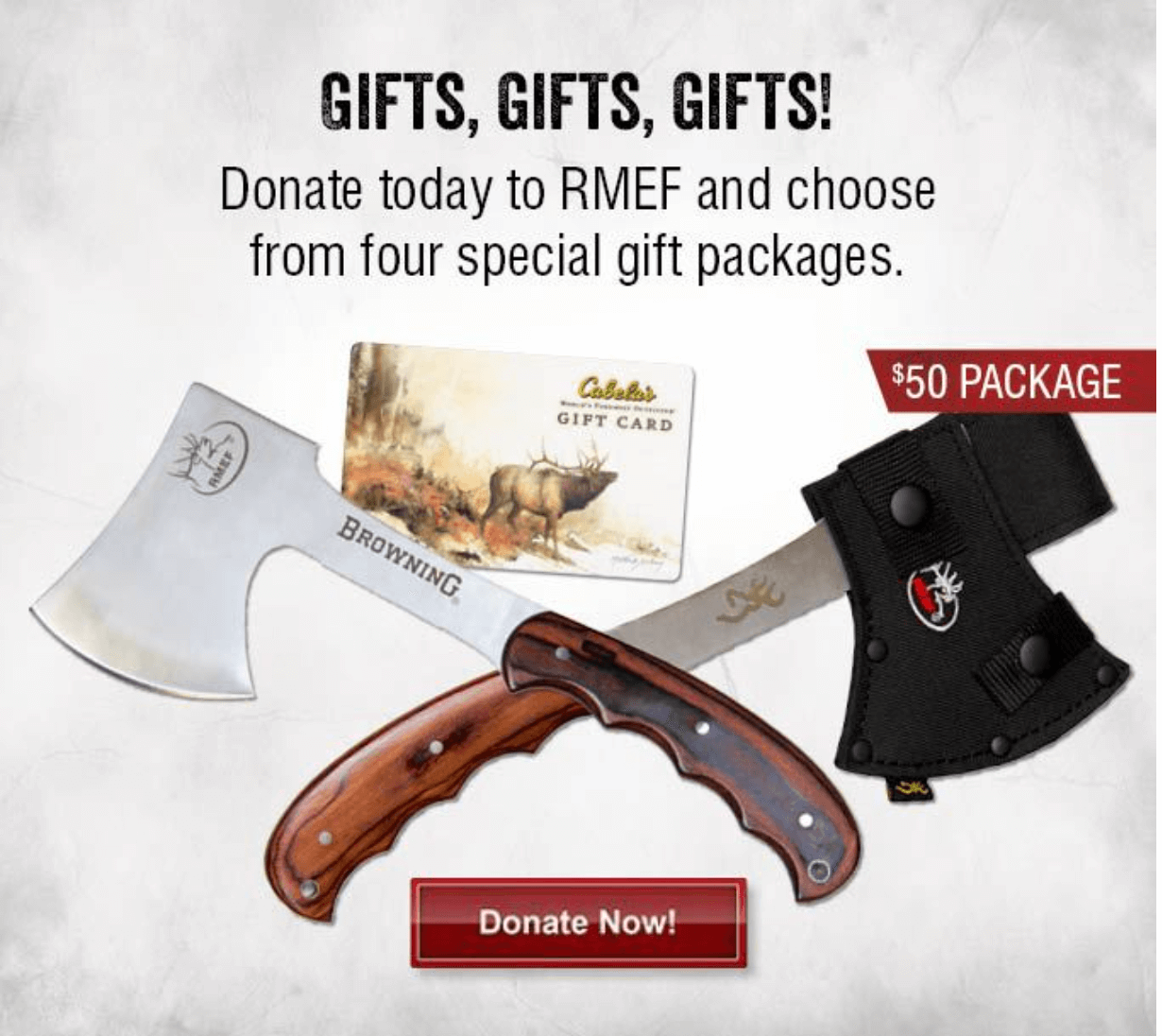 RMEF example of dynamic content in emails