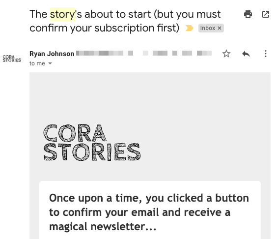 email subject line with gated content