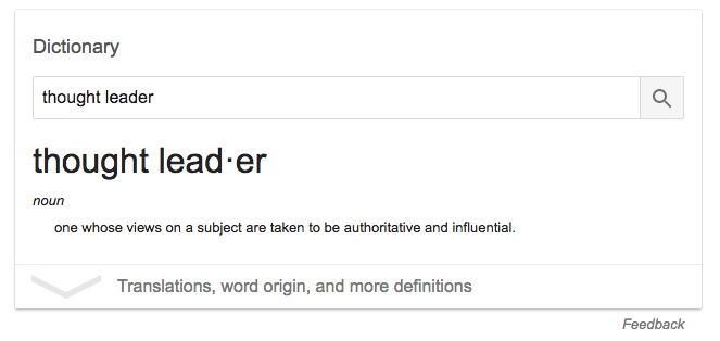 thought leadership definition