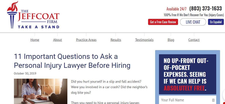 Personal Injury Lawyer Landing Page