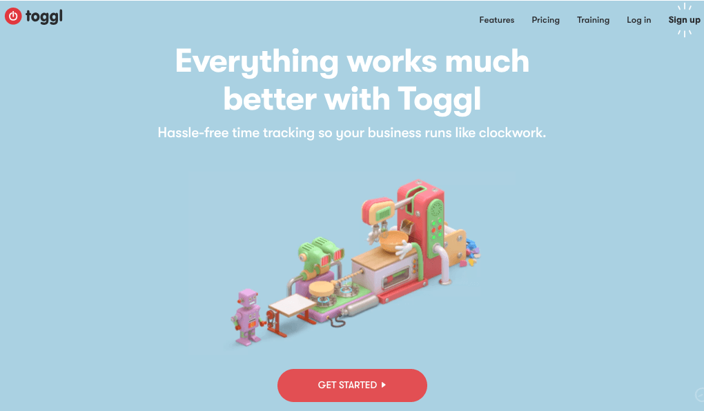 Toggl Homepage