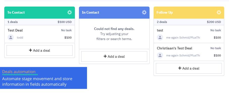 deals automation