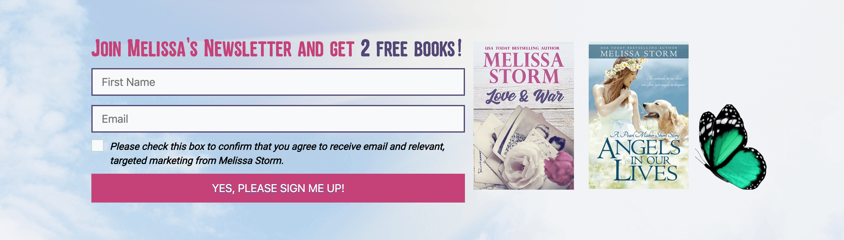 Melissa Storm free book signup