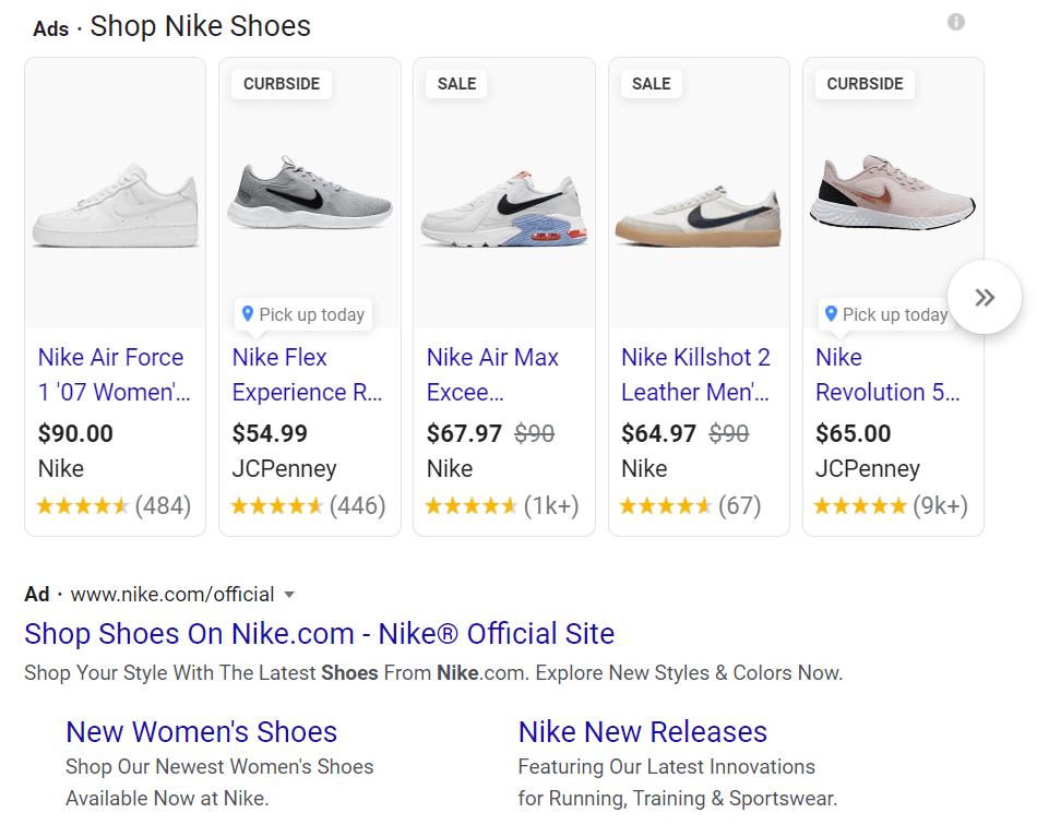 Google ad example marketing campaign kpis