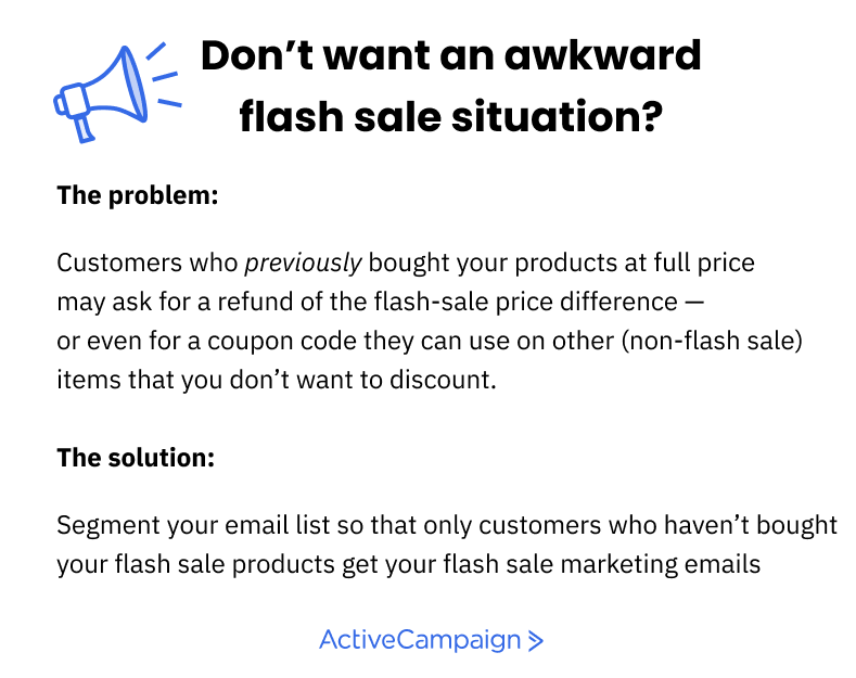 flash sale tips