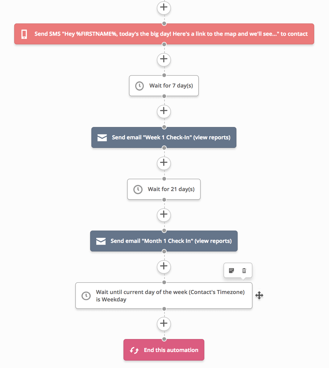 onboarding automation SMS