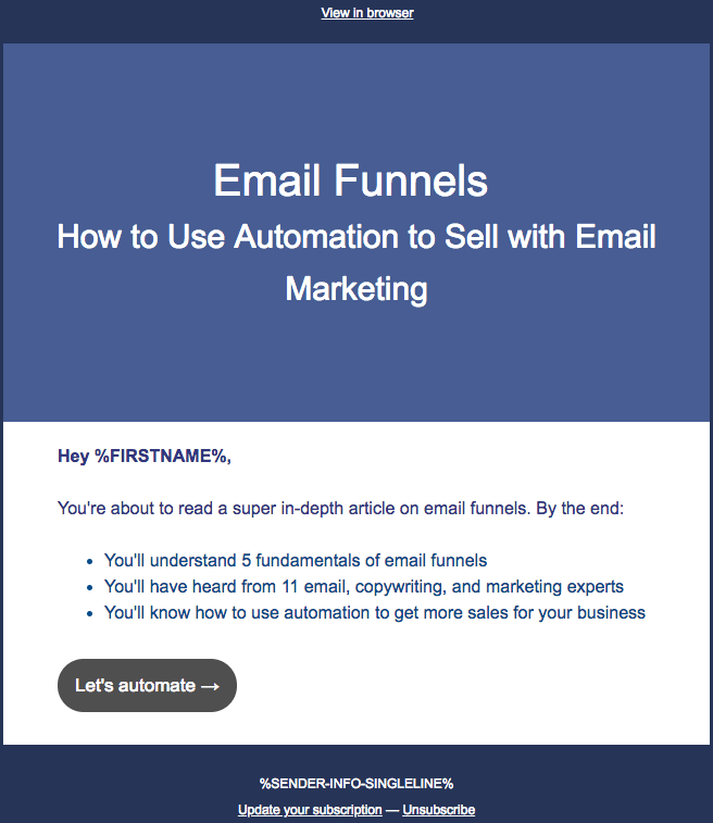 Email funnels