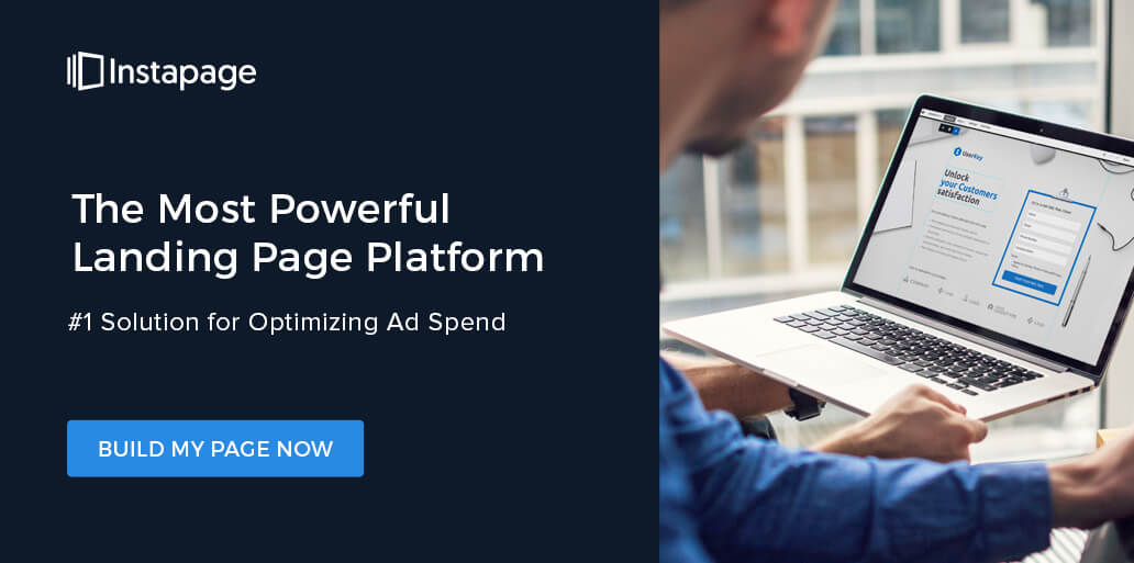 Build landing pages for your content