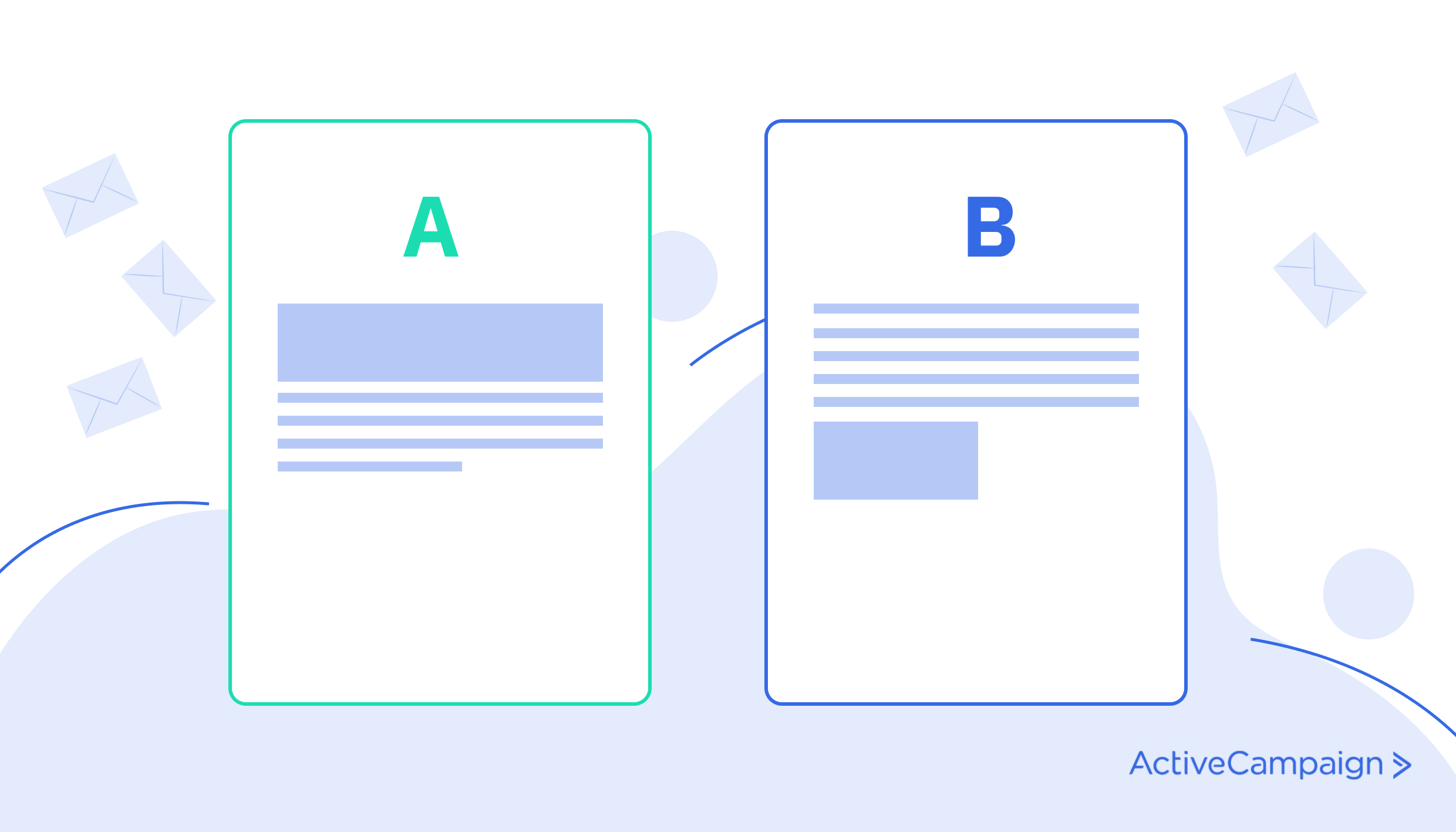 Testing emails with an A/B test