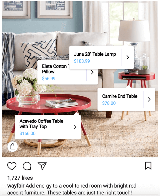 wayfair content example