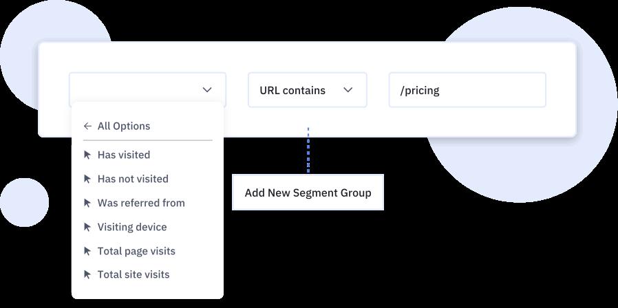 ActiveCampaign's segment builder